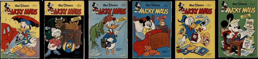 Mickay Maus Heft Nr. 4, Mickay Maus Heft Nr. 12, Mickay Maus Heft Nr. 13, Mickay Maus Heft Nr. 16, Mickay Maus Heft Nr. 47, Mickay Maus Heft Nr. 50,