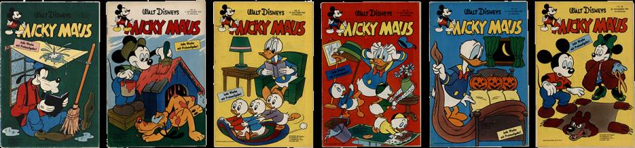 Micky Maus Nr. 25, Micky Maus Nr. 34, Micky Maus Nr. 41, Micky Maus Nr. 44, Micky Maus Nr. 44, Micky Maus Nr. 40,