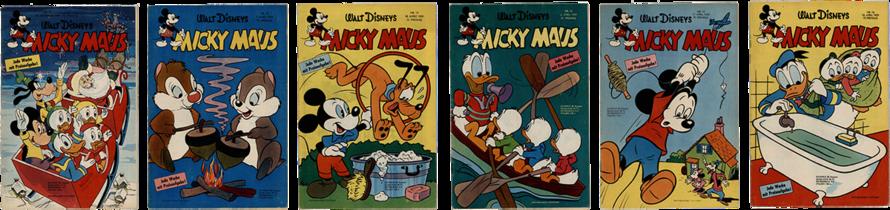 Micky Maus Nr. 51, Micky Maus Nr. 10, Micky Maus Nr. 13, Micky Maus Nr. 14, Micky Maus Nr. 15, Micky Maus Nr. 16,