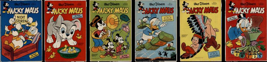 Micky Maus Nr. 17, Micky Maus Nr. 20, Micky Maus Nr. 21, Micky Maus Nr. 23, Micky Maus Nr. 24, Micky Maus Nr. 30,